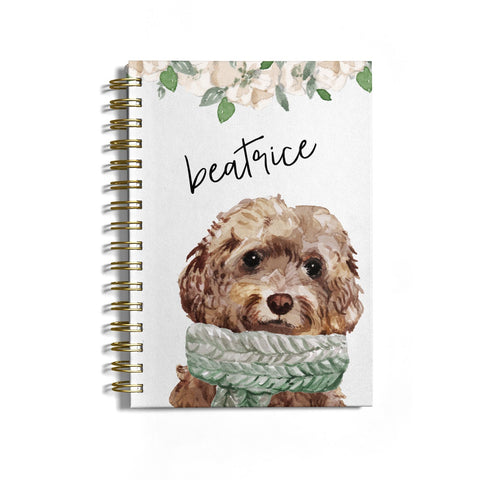 Personalised Cockapoo Dog Notebook