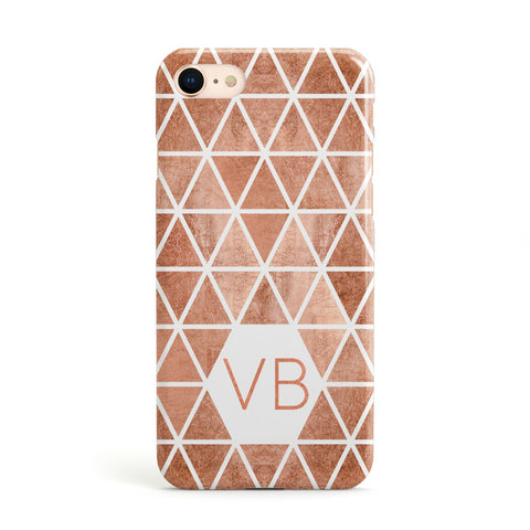 Personalised Copper Initials Apple iPhone Case