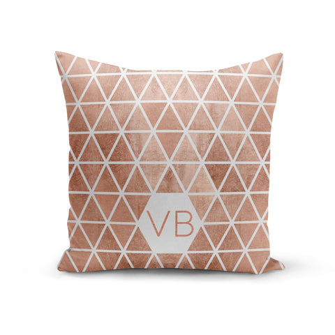 Personalised Copper Initials Cushion