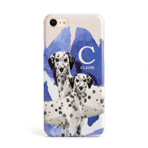 Personalised Dalmatian iPhone Case
