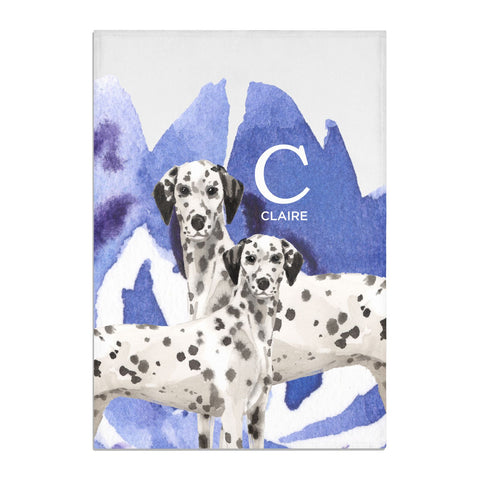 Personalised Dalmatian Tea Towel