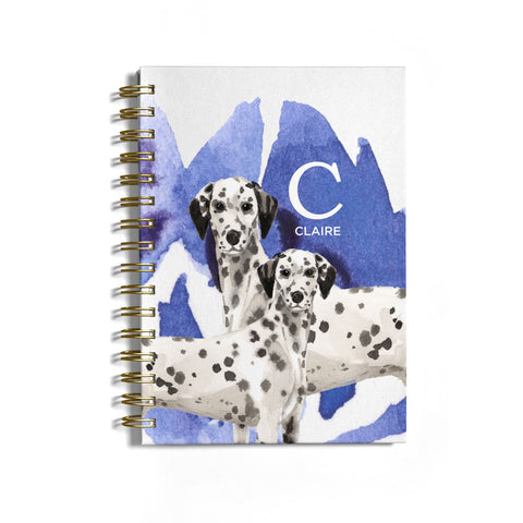 Personalised Dalmatian Notebook