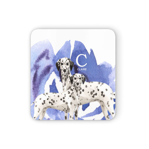 Personalised Dalmatian Coasters set of 4