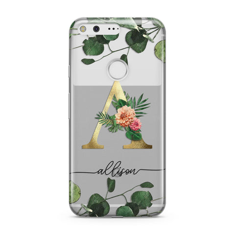 Personalised Forest Monogram Google Case
