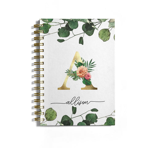 Personalised Forest Monogram Notebook