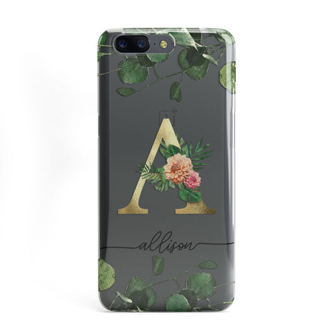 Personalised Forest Monogram OnePlus Case