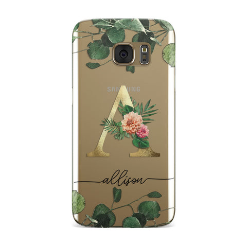 Personalised Forest Monogram Samsung Galaxy Case
