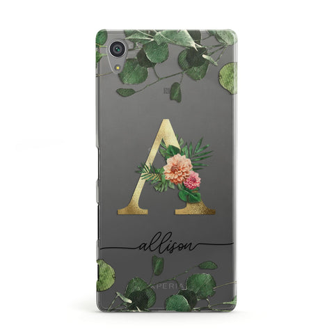 Personalised Forest Monogram Sony Case