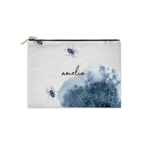 Personalised Halloween Spider Web Clutch Bag