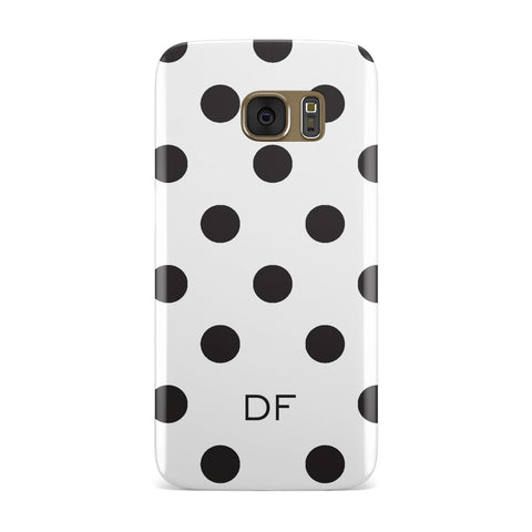 Personalised Initial Dots Samsung Galaxy Case