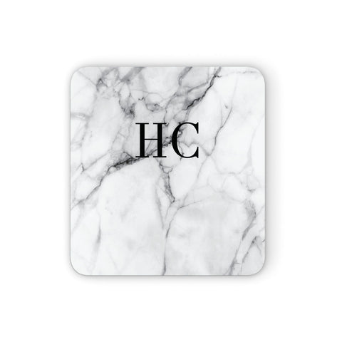 Personalised Marble Effect Initials Monogram Coasters set of 4