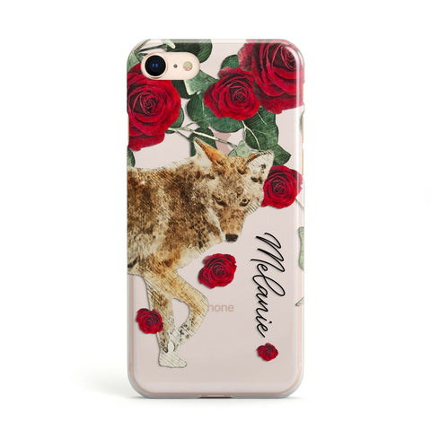 Personalised Name Wolf iPhone Case