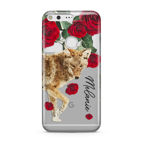 Personalised Name Wolf Google Case