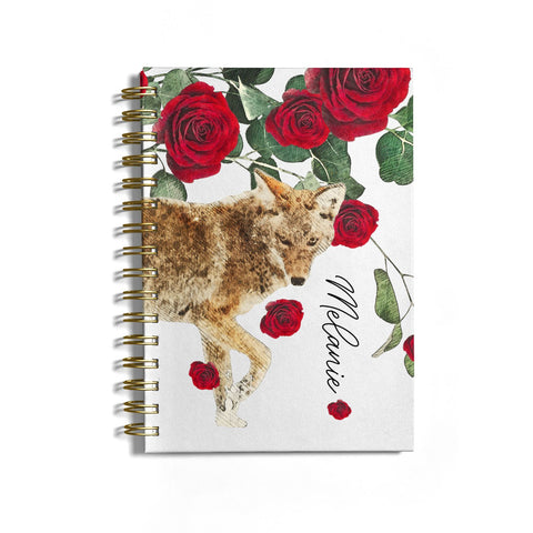 Personalised Name Wolf Notebook