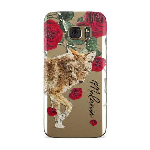 Personalised Name Wolf Samsung Galaxy Case