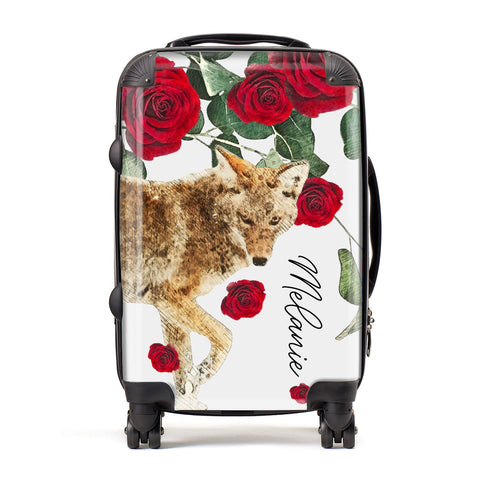 Personalised Name Wolf Suitcase