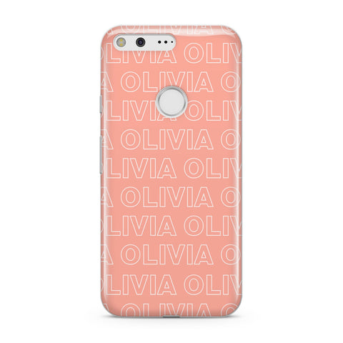 Personalised Peach Name Google Case