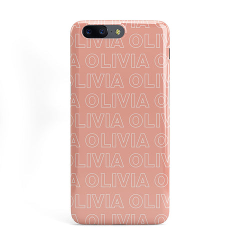 Personalised Peach Name OnePlus Case