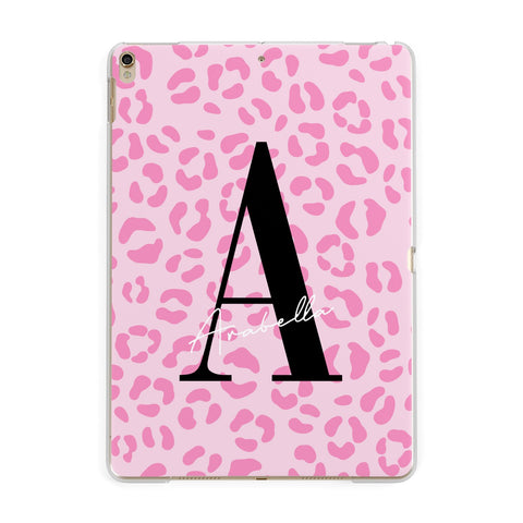 Personalised Pink Leopard Print iPad Case