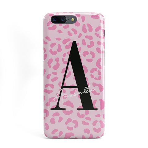 Personalised Pink Leopard Print OnePlus Case