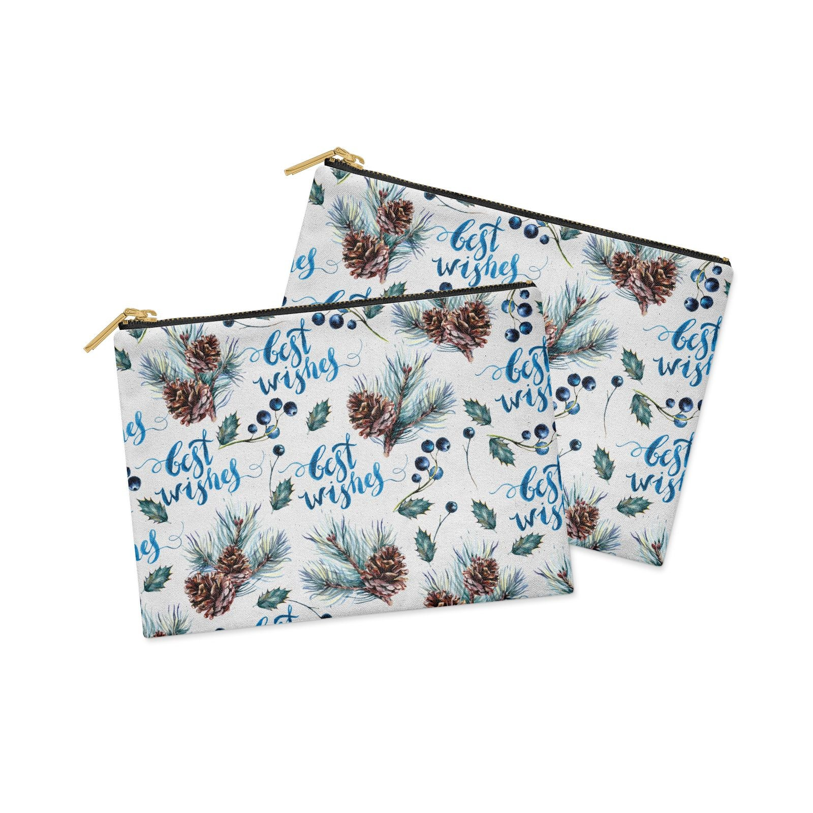 Pine cones wild berries Clutch Bag Zipper Pouch Alternative View