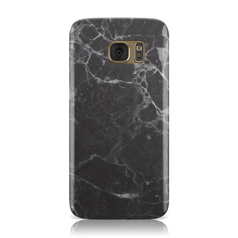Faux Marble Effect Black Samsung Galaxy Case