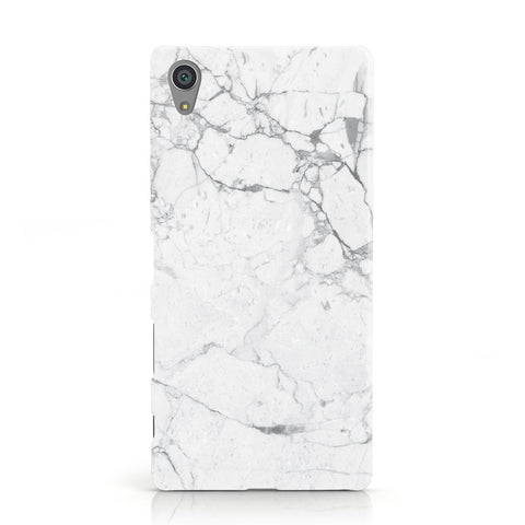 Faux Marble Effect Grey White Sony Xperia Case