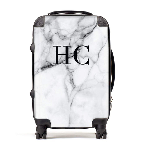 Personalised Marble Effect Initials Monogram Suitcase