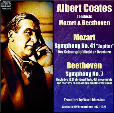 COATES conducts Mozart and Beethoven (1921-24) - PASC298