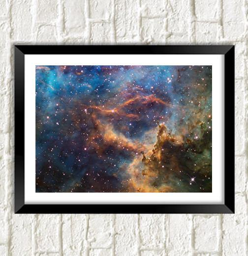 HUBBLE UNIVERSE POSTER: Stunning Space Art Photo - The Print Arcade