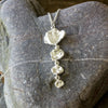 Unique Cornish Seawater Cast Silver Drop Necklace