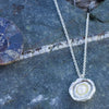 Cornish Seawater Cast Silver and Pearl Necklace