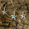 Silver Starfish and Opal Pendant