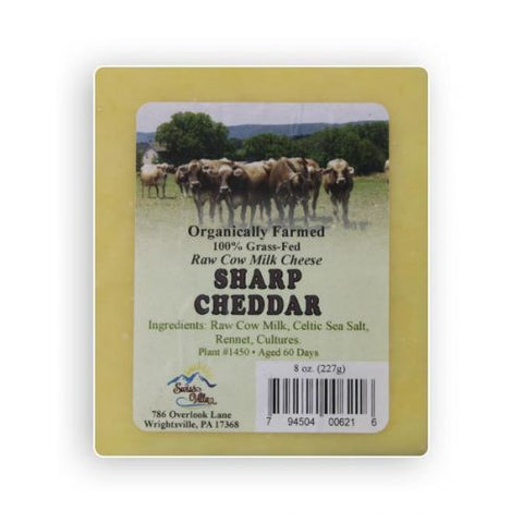 Raw cow's milk Extra Sharp Cheddar Cheese- 8 oz.