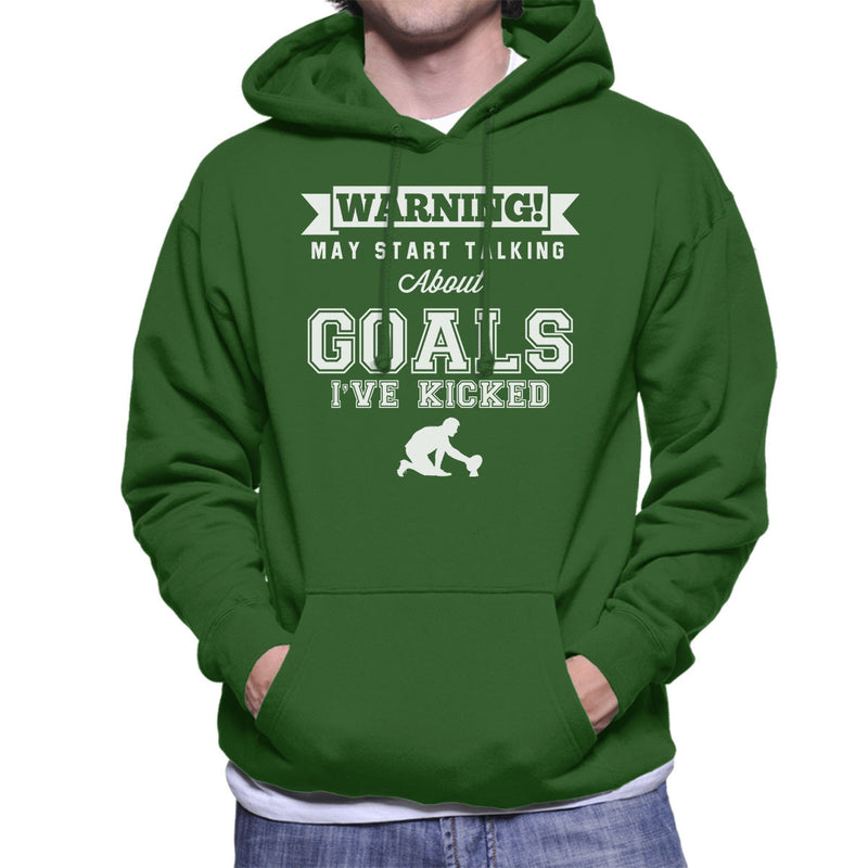 Rugby Warning May Start Talking About Goals Men's Hooded Sweatshirt - coto7