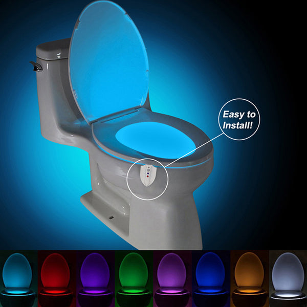 Body Motion Sensor PIR Toilet Seat LED Lamp Motion Activated with 8 Colors Sensor