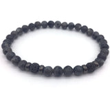 Elegant Pave CZ Ball Natural Stone Beaded Bracelets