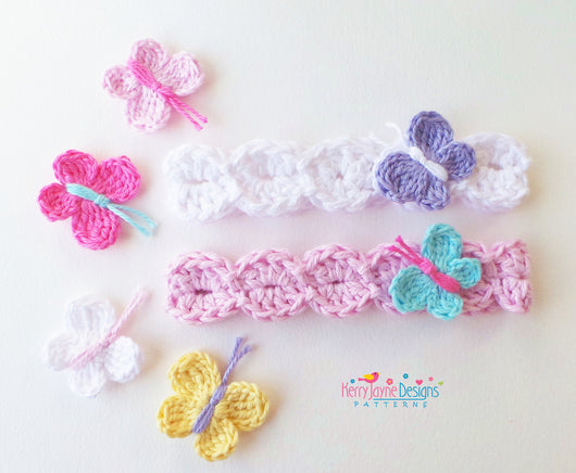 Colourful Butterfly headband Pattern