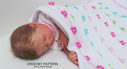 Butterfly blanket crochet pattern