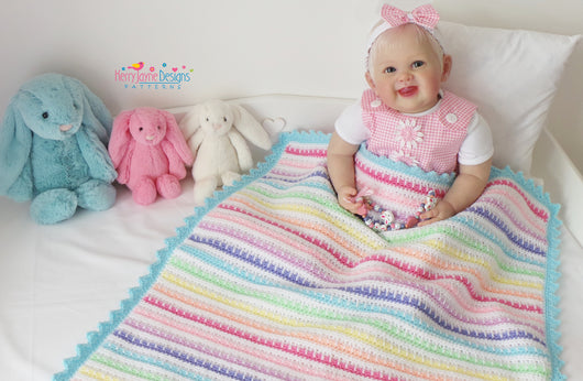 Striped baby blanket pattern