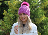 Womens bobble stitch hat pattern