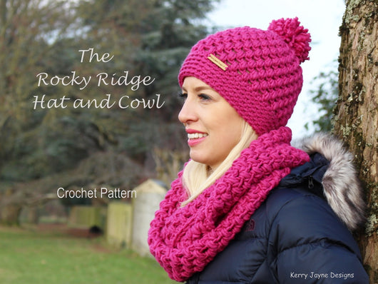 Hat and cowl crochet pattern