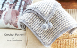 Warm and soft Baby crochet blanket pattern