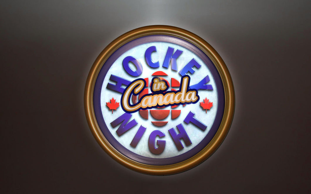 Hockey Night in Canada officially licensed illuminated sign - Modern Logo - Available Now!