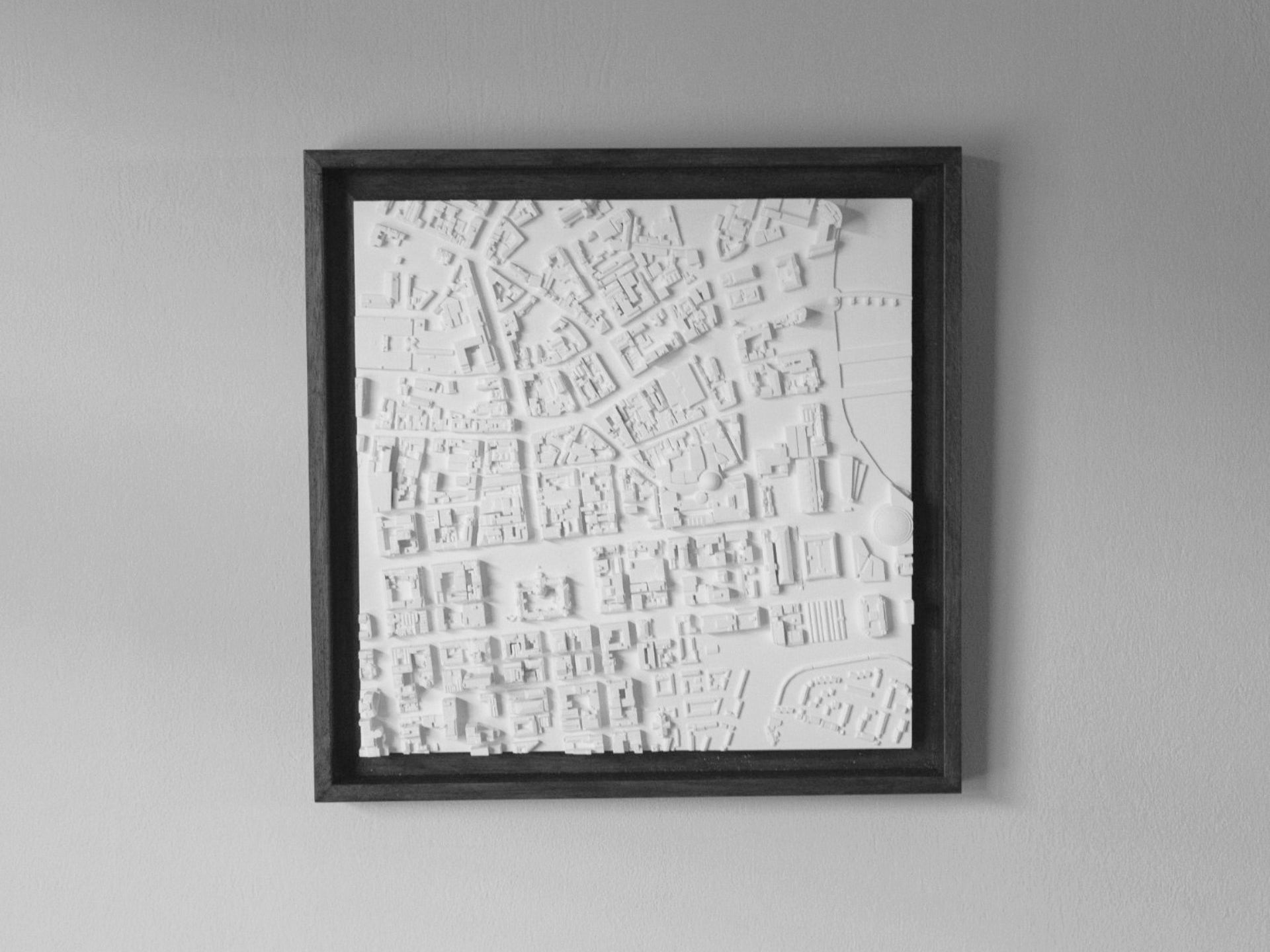 Belfast City Map - Framed