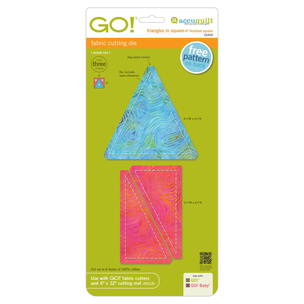 "Go! Triangle in a Square 4"" Die"