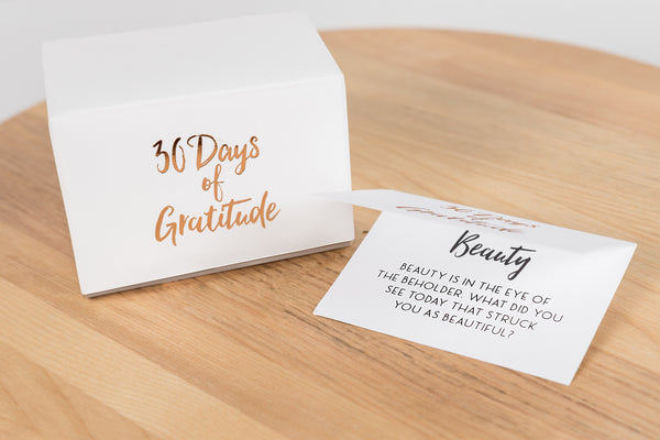 NEW! 30 Days of Gratitude Glass Jar