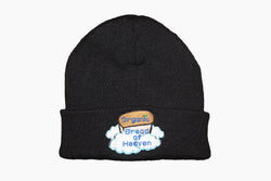 """Organic Bread of Heaven"" Black Knit Hat"