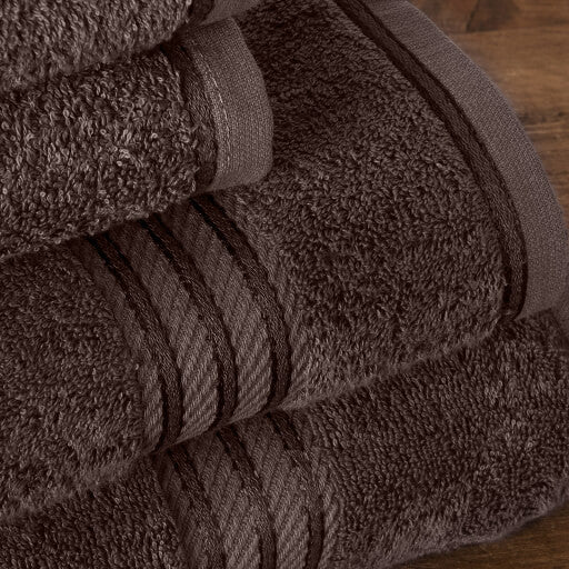 Our chocolate brown bath sheets make your bathroom feel like a spa.