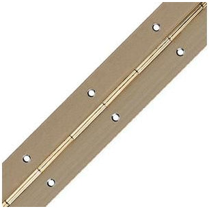 Rolled, straight piano hinge, 32 mm open width, steel